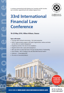 33rd int financial law conference_iba
